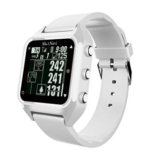 HUG(W) ショットナビ GPSゴルフナビ ウォッチタイプ(ホワイト) テクタイト ShotNavi 心拍・活動量計測機能搭載