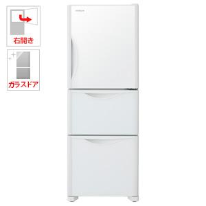 (標準設置料込)R-S27JV-XW 日立 265L 3ドア冷蔵庫(クリスタルホワイト)【右開き】 HITACHI