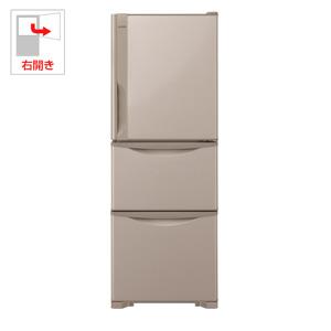 (標準設置料込)R-27JV-T 日立 265L 3ドア冷蔵庫(ライトブラウン)【右開き】 HITACHI