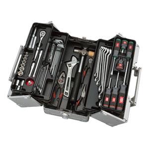 SK3561W 京都機械工具 工具セット(両開きメタルケースタイプ)56点 KTC