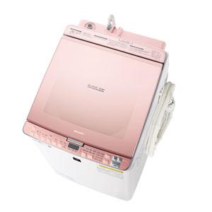 (標準設置料込)ES-PX8C-P シャープ 8.0kg 洗濯乾燥機 ピンク系 SHARP