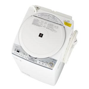 (標準設置料込)ES-TX8C-W シャープ 8.0kg 洗濯乾燥機 ホワイト系 SHARP