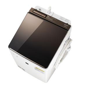 (標準設置料込)ES-PU10C-T シャープ 10.0kg 洗濯乾燥機 ブラウン系 SHARP