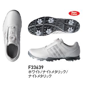 AD18SS F33639 235 アディダス レディース・スパイク・ゴルフシューズ(ホワイト/ナイトメタリック/ナイトメタリック・23.5cm) Adidas 18SS W adipure Boa F33639