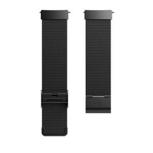 FB166MMBK フィットビット Versa専用 交換用リストバンド メタルメッシュブラック Fitbit Versa [FB166MMBK]【返品種別A】
