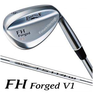 数量限定価格!! FHFV156TW114LH フォーティーン 56° FH TS-114W Forged V1 ウェッジ Forged 左用 ロフト56° TS-114W スチールシャフト 56°, でんKING:561fdb8a --- gamelabo.xyz