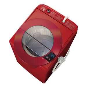 (標準設置料込)AQW-LV80G-R アクア 8.0kg 全自動洗濯機 シャイニーレッド AQUA SLASH