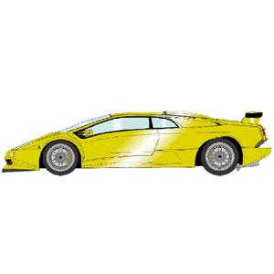 1/43 ランボルギーニ・ディアブロ SE30 JOTA PO.03 1995 イエローメタリック【EM376A】 メイクアップ