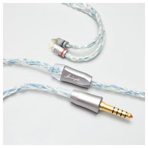 LNA-BOB-CM2P-44 Luminox Audio イヤホン用リケーブル(1.2m)【カスタム2ピン⇔4.4mm5極バランスプラグ】 Booster Blue
