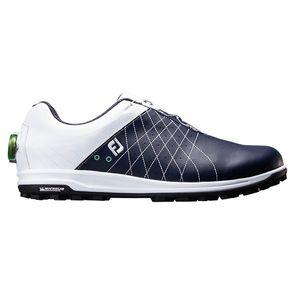 56206W265 フットジョイ メンズ・スパイクレス・ゴルフシューズ(ホワイト+ネイビー・26.5cm) TREADS Boa #56206