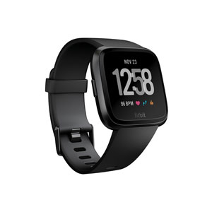 FB505GMBK-CJK フィットビット スマートウォッチ(Black/Black Aluminium)S・Lサイズ兼用 Fitbit Versa [FB505GMBKCJK]【返品種別A】