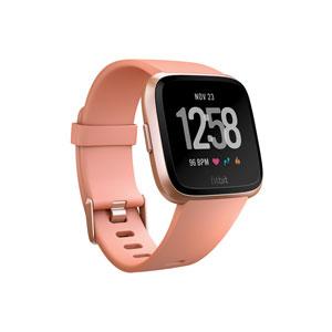 FB505RGPK-CJK フィットビット スマートウォッチ(Peach/Rose Gold Aluminum)S・Lサイズ兼用 Fitbit Versa [FB505RGPKCJK]【返品種別A】