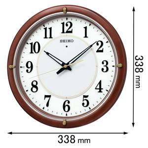 KX-240-B セイコークロック 電波掛け時計 SEIKO ファインライトNEO [KX240B]【返品種別A】