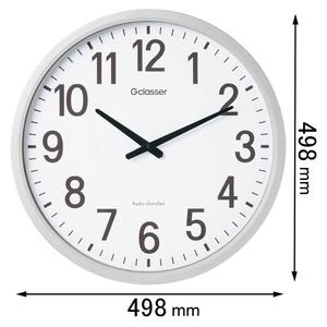 GDK-001 キングジム 電波掛け時計 Gクラッセ ザラージ [GDK001]【返品種別A】