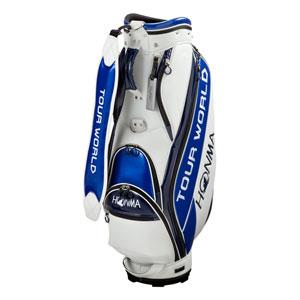 HO17 CB1731-0105 本間ゴルフ キャディバッグ コンパクトスポーツモデル(ホワイト/ブルー・9型・47インチ対応) HONMA TOUR WORLD ツアーワールドキャディバッグ