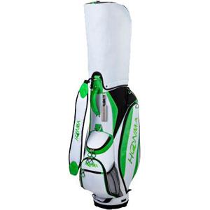 HO17 CB1732-0116 本間ゴルフ キャディバッグ コンパクトスポーツモデル(ホワイト/フレッシュグリーン・8.5型・47インチ対応) HONMA