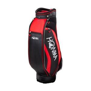 HO17 CB1732-0233 本間ゴルフ キャディバッグ コンパクトスポーツモデル(ブラック/レッド・8.5型・47インチ対応) HONMA