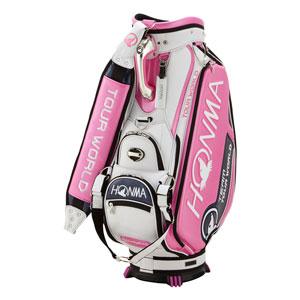 HO18 CB1801-0035 本間ゴルフ 2018年トーナメントプロモデル キャディバッグ(ピンク・9.5型・47インチ対応) HONMA