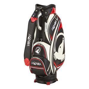 HO18 CB1810-0002 本間ゴルフ モグラアクセントキャディバッグ(ブラック・9型・47インチ対応) HONMA