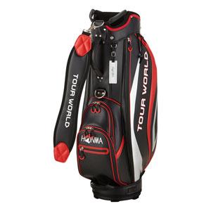 HO18 CB1813-0002 本間ゴルフ TOUR WORLD 防水キャディバッグ(ブラック・9型・47インチ対応) HONMA
