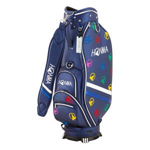 HO18 CB1816-0004 本間ゴルフ モグラランダム キャディバッグ(ネイビー・8.5型・47インチ対応) HONMA