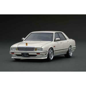 1/43 Nissan Cedric Cima (Y31) Pearl White【IG1089】 ignitionモデル