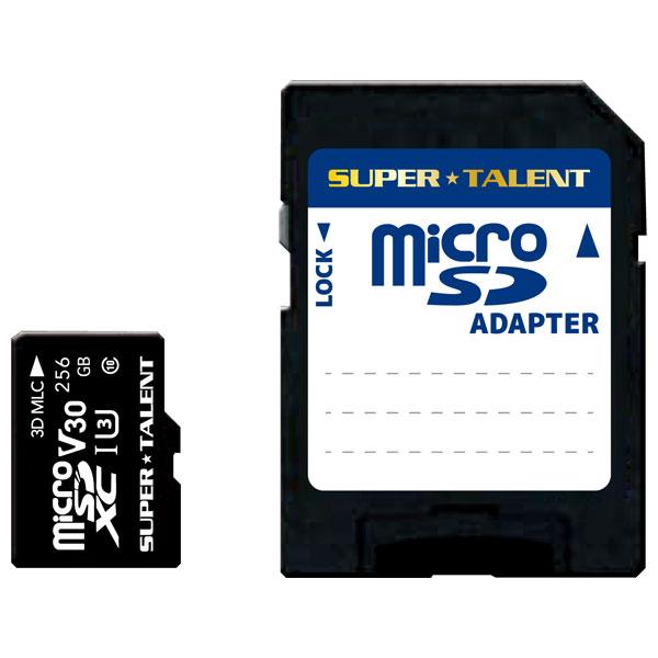 ST-56MSU3PD SUPERTALENT microSDXCメモリカード 256GB Class10 UHS-I Premium Pro Durable