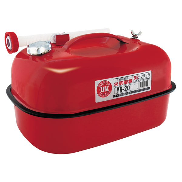 YR20 矢澤産業 ◆高品質 ガソリン携帯缶 SEAL限定商品 20L YAZAWA レッド