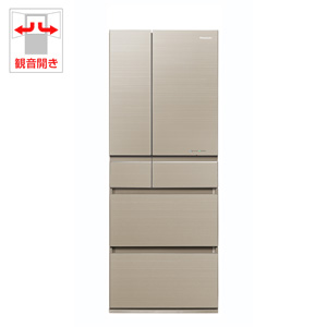 (標準設置料込)NR-F454HPX-N パナソニック 450L 6ドア冷蔵庫(マチュアゴールド) Panasonic エコナビ