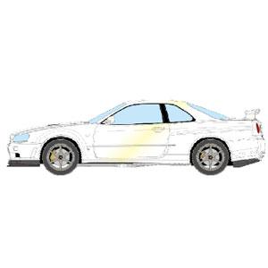1/43 NISSAN SKYLINE GT-R (BNR34) V-spec II Nur 2002 ホワイトパール【EM372C】 メイクアップ