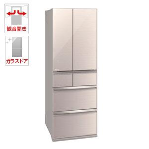 (標準設置料込)MR-WX47D-F 三菱 470L 6ドア冷蔵庫(クリスタルフローラル) MITSUBISHI 置けるスマート大容量 WXシリーズ