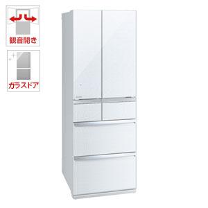 (標準設置料込)MR-WX52D-W 三菱 517L 6ドア冷蔵庫(クリスタルホワイト) MITSUBISHI 置けるスマート大容量 WXシリーズ