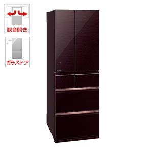 (標準設置料込)MR-WX52D-BR 三菱 517L 6ドア冷蔵庫(クリスタルブラウン) MITSUBISHI 置けるスマート大容量 WXシリーズ