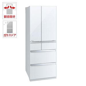 (標準設置料込)MR-WX60D-W 三菱 600L 6ドア冷蔵庫(クリスタルホワイト) MITSUBISHI 置けるスマート大容量 WXシリーズ