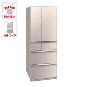 (標準設置料込)MR-WX60D-F 三菱 600L 6ドア冷蔵庫(クリスタルフローラル) MITSUBISHI 置けるスマート大容量 WXシリーズ