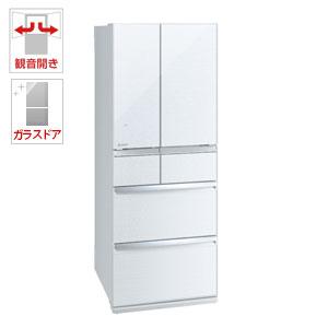 (標準設置料込)MR-WX47LD-W 三菱 470L 6ドア冷蔵庫(クリスタルホワイト) MITSUBISHI 置けるスマート大容量 WXシリーズ