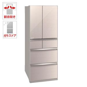 (標準設置料込)MR-WX47LD-F 三菱 470L 6ドア冷蔵庫(クリスタルフローラル) MITSUBISHI 置けるスマート大容量 WXシリーズ