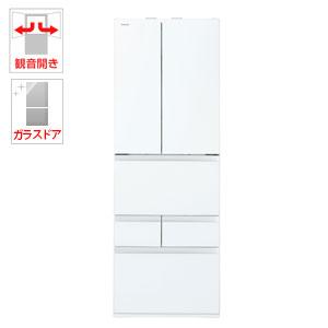 (標準設置料込)GR-P460FW-UW 東芝 462L 6ドア冷蔵庫(クリアグレインホワイト) TOSHIBA VEGETA(べジータ)