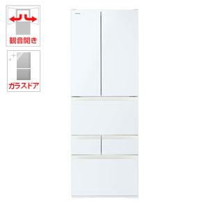 (標準設置料込)GR-P460FD-EW 東芝 462L 6ドア冷蔵庫(グランホワイト) TOSHIBA VEGETA(べジータ)