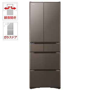 (標準設置料込)R-XG43J-XH 日立 430L 6ドア冷蔵庫(グレイッシュブラウン) HITACHI