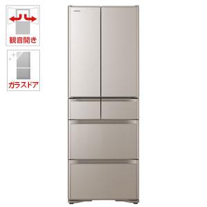 (標準設置料込)R-XG43J-XN 日立 430L 6ドア冷蔵庫(クリスタルシャンパン) HITACHI
