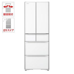 (標準設置料込)R-XG43J-XW 日立 430L 6ドア冷蔵庫(クリスタルホワイト) HITACHI