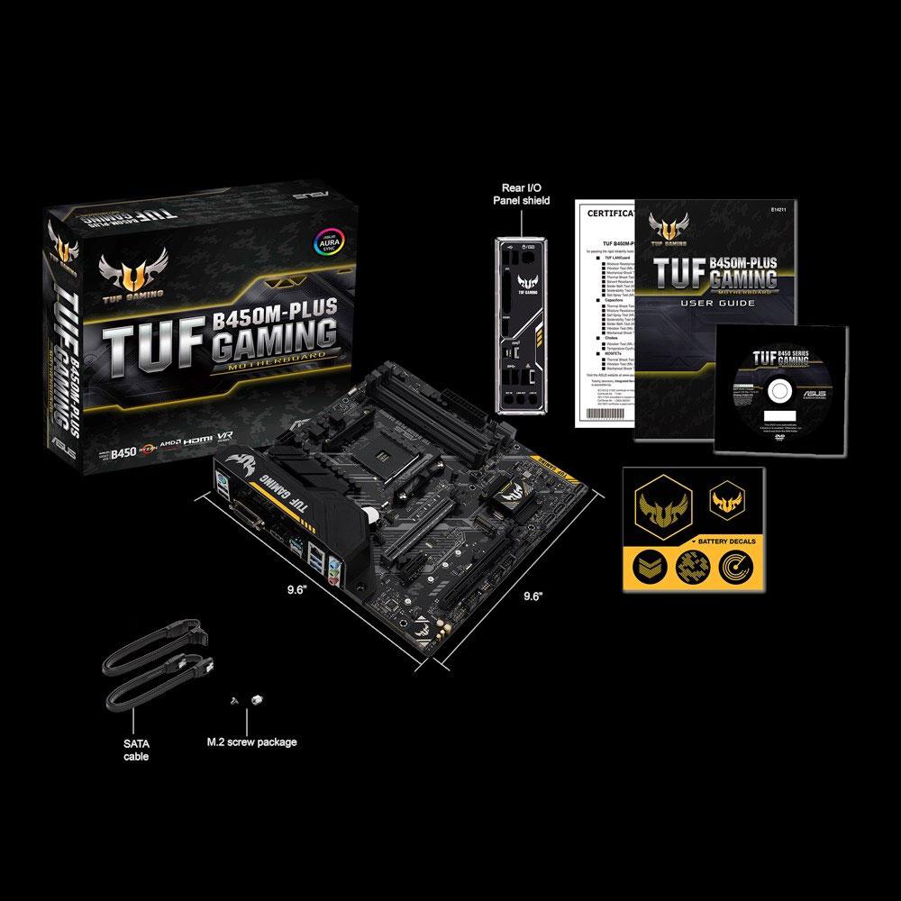 TUFB450M-PLUSGAMING エイスース microATX対応マザーボード ASUS TUF B450M-PLUS GAMING [AMD Ryzen AM4ソケット対応]