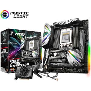MEG X399 CREATION MSI Extended ATX対応マザーボード [AMD第1・2世代 Ryzen Threadripper 専用]