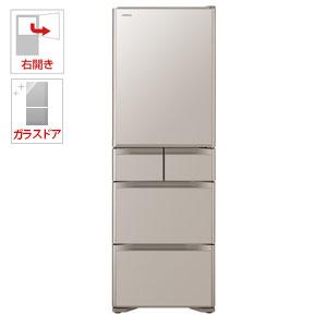 (標準設置料込)R-S40J-XN 日立 401L 5ドア冷蔵庫(クリスタルシャンパン)【右開き】 HITACHI