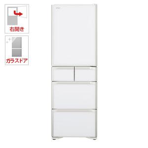 (標準設置料込)R-S40J-XW 日立 401L 5ドア冷蔵庫(クリスタルホワイト)【右開き】 HITACHI