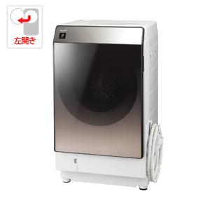 (標準設置料込)ES-U111-TL シャープ 11.0kg ドラム式洗濯乾燥機【左開き】ブラウン系 SHARP