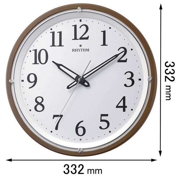 8MY532SR06 リズム時計 電波掛け時計 リバライト532 [8MY532SR06]【返品種別A】
