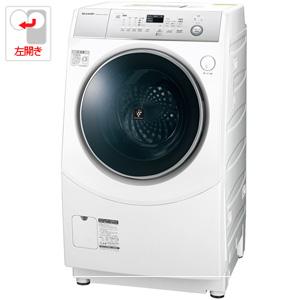 (標準設置料込)ES-H10C-WL シャープ 10.0kg ドラム式洗濯乾燥機【左開き】 ホワイト系 SHARP