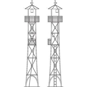 [鉄道模型]ワールド工芸 (HOナロー) 1/87 火の見やぐら タイプB (4本足タイプ) 組立キット